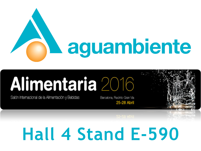 Aguambiente will be present in the next edition of Alimentaria 2016.
