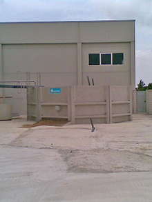 WWTP for a trucking tank cleaning area 40m³/day