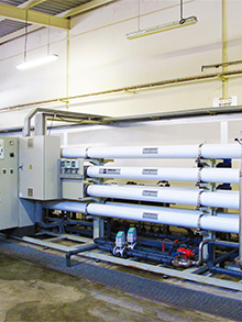 Ion exchange 30m3/h + osmosis plant remodeling