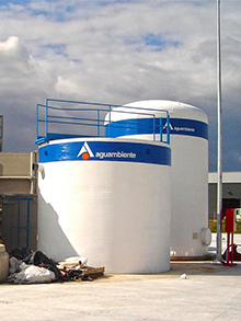 WWTP for a trucking tank cleaning area 50m³/day