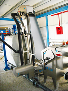 WWTP for a snacks industry 100 m³/day