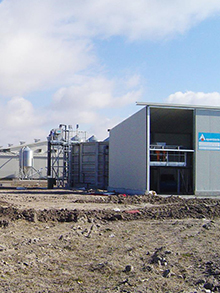 WWTP in eggs industry 160 m³/day
