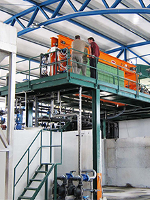 Filter Press line for fertilizer factory 10m³/h