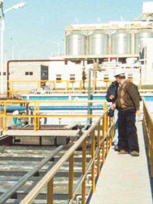 Process of flotation for chemical industry