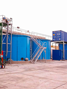 WWTP for a trucking tank cleaning area 120m³/day