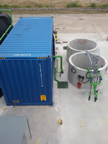 Installation, set-up and maintenance in tank cleaning area WWTP 80m³/day