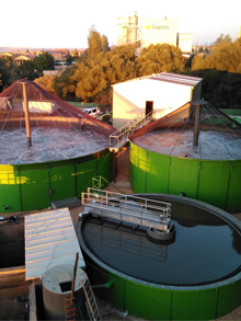 WWTP construction in company dedicated to the biological farming and processing of natural products