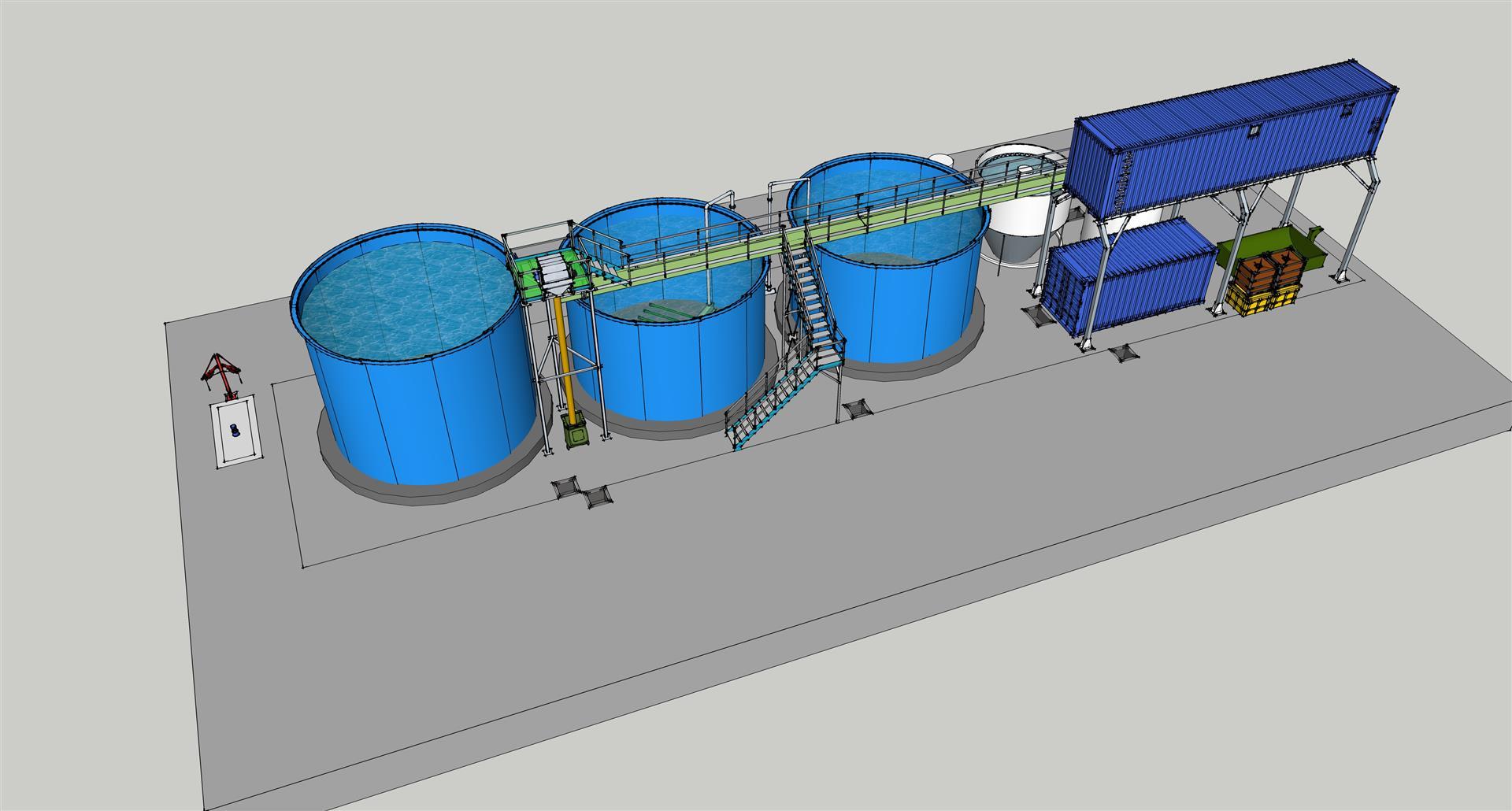 Estación de depuración de aguas residuales, lavadero de cisternas